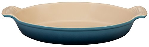 Le Creuset Stoneware Heritage Oval 1 7/10QT. Au Gratin Dish - Marine