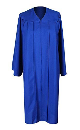 Graduation Royal Blue Unisex Adult Matte Graduation Gown Cap Tassel with 2019 Year Charm For High School and College Bachelor -
