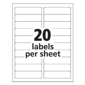 Premium 4 X 1 Inch Shipping Labels Avery 5161 Compatible: Amazon ...