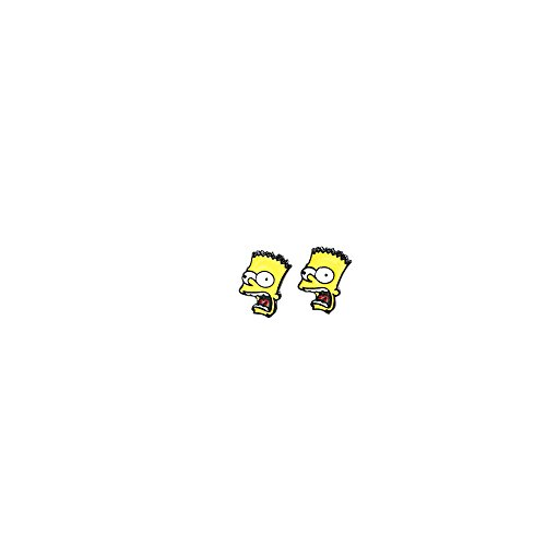 The Simpsons Bart Logo Superhero Comics Cartoon Post Stud Earrings In Gift Box -