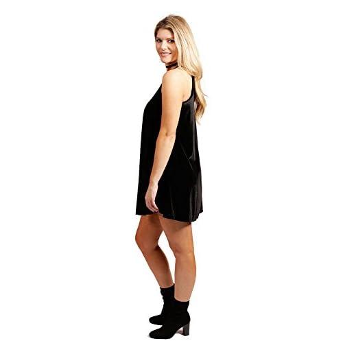 a4ee7c6014f high-quality Vibe Sportswear Velvet Sleeveless High Neck Trapeze Dress