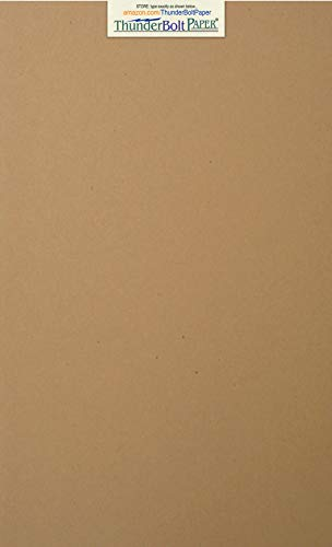 - 150 Brown Kraft Fiber 28/70 Pound Text (Not Card/Cover) Paper Sheets - 8.5 X 14 Inches - 70 Pound Weight Legal|Menu Size - Rich Earthy Color with Natural Fibers - Smooth Finish