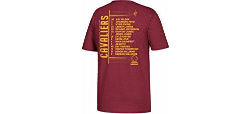 Cleveland Cavaliers adidas 2017 Eastern Conf Champions NBA Finals Roster T-Shirt (XXL)