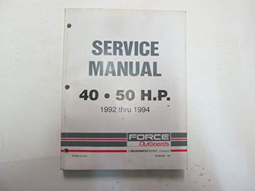 (1992 Thru 1994 Force Outboards 40/50 HP Service Repair Shop Manual OEM ***)