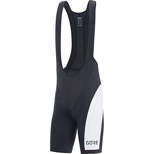 Bib Bike Wear Gore (Gore Wear Men's Breathable Cycling Bib Shorts, With Seat Insert, C3 Optiline Bib Shorts +, Size: L, Color Black/White, 100178)