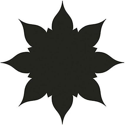 placas y adornos para manualidades Etiquetas de regalo dise/ño: ornamental 2, tama/ño del dise/ño: 6,5 x 6,5 cm tarjetas Extra grande Perforadora de papel Ideen mit Herz Perforadora Jumbo