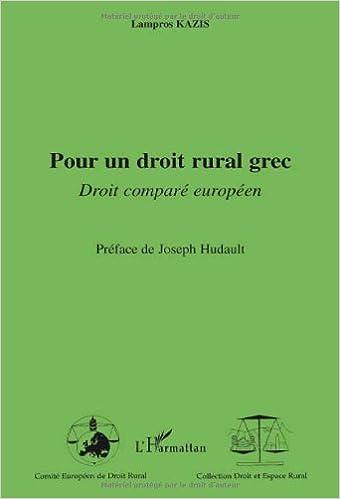 Livres gratuits Pour un droit rural grec : Droit comparé européen pdf