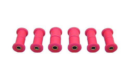 Prothane 6-1007 Red Rear Spring Eye and Shackle Bushing Kit by Prothane