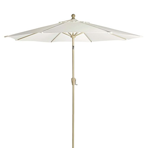 Astonica 50140704 9 ft Natural Color Aluminum Patio Umbrella