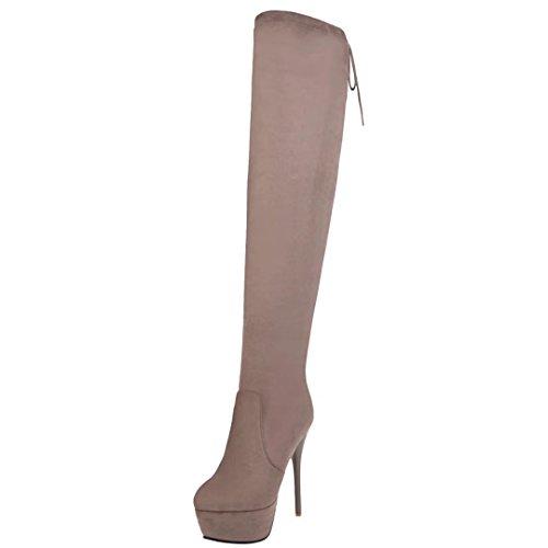 Damen AIYOUMEI Aprikose Boot Classic AIYOUMEI Damen p6qxOwEW