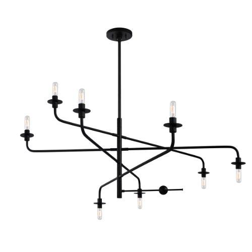 Lamps Plus Satin Chandelier (Sonneman 4548.25, Atelier Large 2 Tier Chandelier Lighting, 8 Light, 160 Watts, Satin)