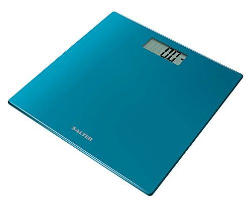 Salter Ultra Slim Glass Electronic Digital Bathroom Scale - Teal