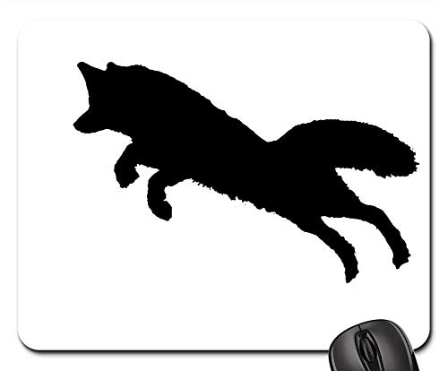 Mouse Pads - Silhouette Fox Jump Animal Wildlife Clipart