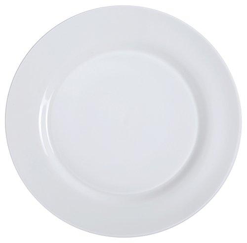 Bone White Dinner Plates (Yanco PS-21 Dinner Plate, 12