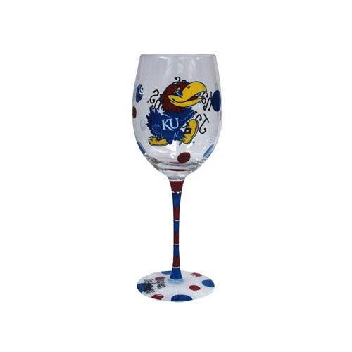 - Game Day Outfitters NCAA Kansas Jayhawks Drinkware Wine Glass, One Size/12 oz, Multicolor