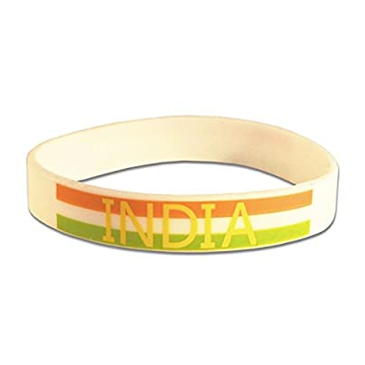 Komonee India White World Cup Olympics Silicone Wristbands Pack 10 Estimated Price £6.99 -