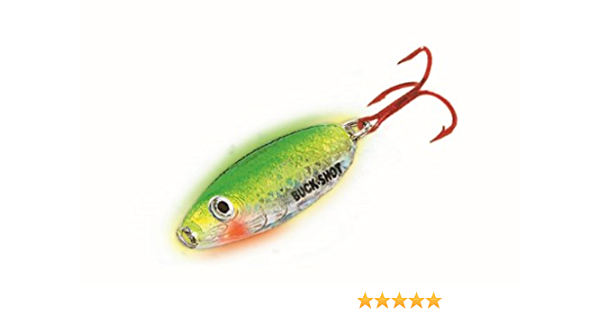 Northland Tackle BRS6-11 Buck Shot Rattle Spoon Silver Shiner Ice Lure 1//2 oz