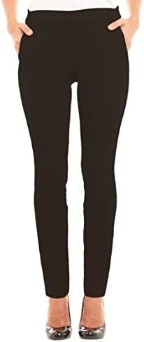 [Patrocinado] Velucci Slim Dress Pants For Women - Comfy Stretch Pull On Pant With Pockets