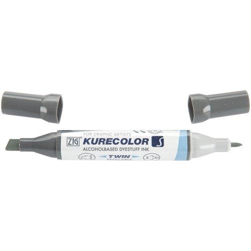 Zig Kurecolor Twin Tip Marker, Gray Tint