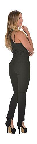 Curvify Stretch Butt Lift Casual Pants | Pantalon Levanta Cola de Mujer Negro (Skinny Jeans Sleek Straight)