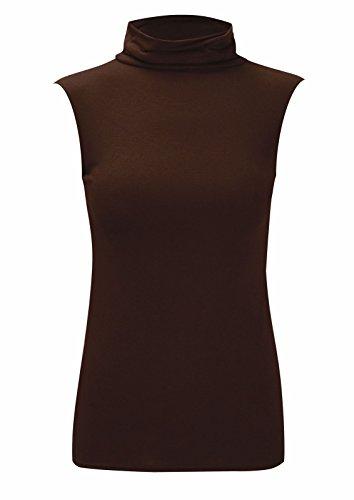 21fashion Camiseta sin mangas mujer Talla nica Marr para Negro UHHSx