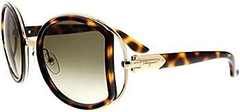 Ferragamo Brown Gradient Round Sunglasses