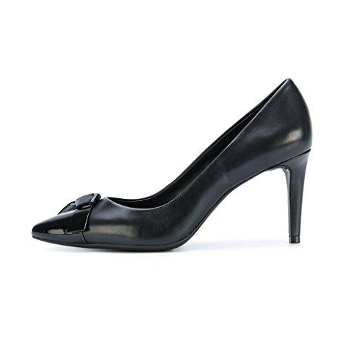 Zapatos De Tacón Alto Con Tacón Alto Versatile Fsj Mujer Con Slip Bowknot En Las Zapatillas De Vestir Formales Talla 4-15 Us Black