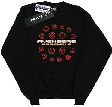 Marvel Herren Avengers Endgame Avengers Assemble Sweatshirt Schwarz XX-Large
