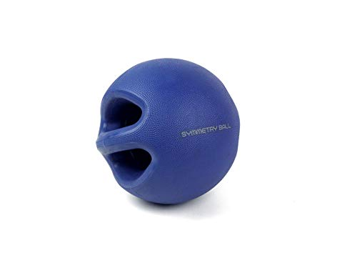 (Smart Body Symmetry Ball 10Lb, Blue – Patented Dual Handled Weighted Medicine Ball)