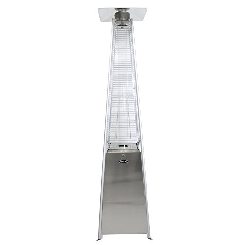 Dyna-Glo DGPH302SS 42000 BTU Stainless Steel Pyramid Flame Patio Heater (For Patio Heater Bottle Gas)