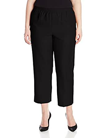 Alfred Dunner Womens Plus Short Pant, Black, 16W