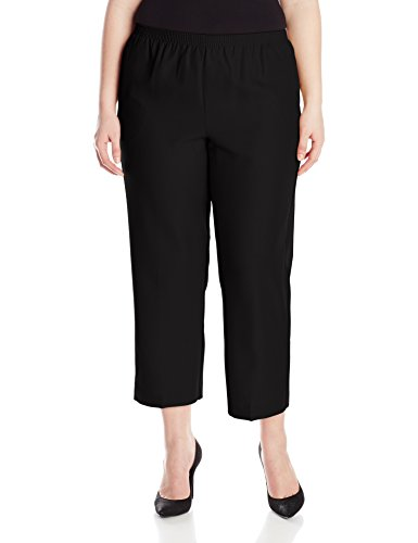 Alfred Dunner Womens Plus Short Pant, Black, (Cropped Pants Shorts)