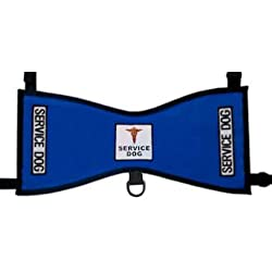 Service Dog Vest Deluxe (Blue, Toy 8-17 lbs.)