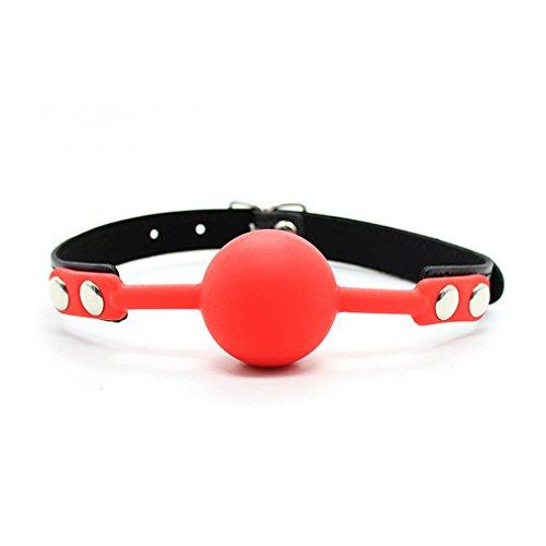 Erwachsene Sex Spielzeug Ball Gag Knebel Mundknebel Fetisch SM Ballknebel (Rote)