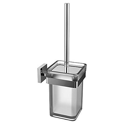 Eviva EVAC90BN Cleansi Toilet Brush (Brushed Nickel) Bathroom Accessories Combination
