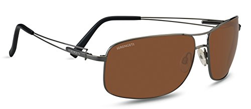 Serengeti Sassari Sunglasses (Drivers Polarized, Shiny Gunmetal)