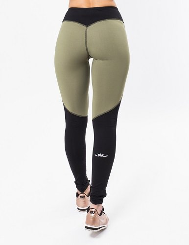Iron Lily Vanquish Leggings - Army Green - Size Large by Iron Lily