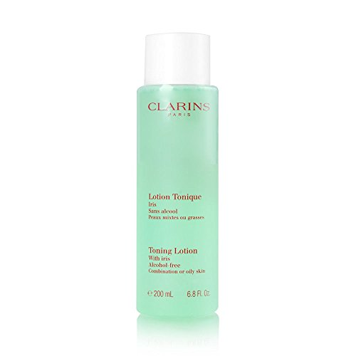(Clarins Toning Lotion Alcohol Free with Iris 200ml/6.8oz - Combination or Oily Skin)