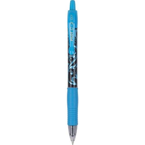 Pilot G2 Fashion Collection Colors Gel Roller Pens, Fine Point, Turquoise Ink and Barrels, Dozen Box (31495)