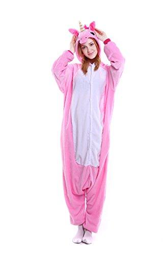 (FunCos Adult Halloween Costume Cosplay Animal Hoodie Pajamas Unicorn)