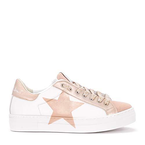 Stella Cipria In Martini Uk Nira Taglia Bianca E Bianco Pelle Rubens Sneaker wF77cq08