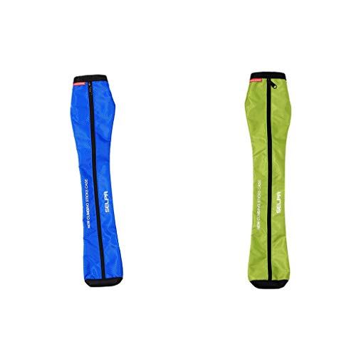 MagiDeal 2pcs Oxford Hiking Stick Carry Bag Waterproof Lightweight Trekking Walking Pole Bag Outdoor Small Gear by Unknown