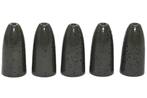 Prime Fish Co. Tungsten Bullet Worm Weight - Bass Fishing Flipping Pitching (1/16oz (10 Pack), Green Pumpkin)