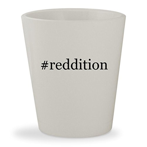 Price comparison product image reddition - White Hashtag Ceramic 1.5oz Shot Glass