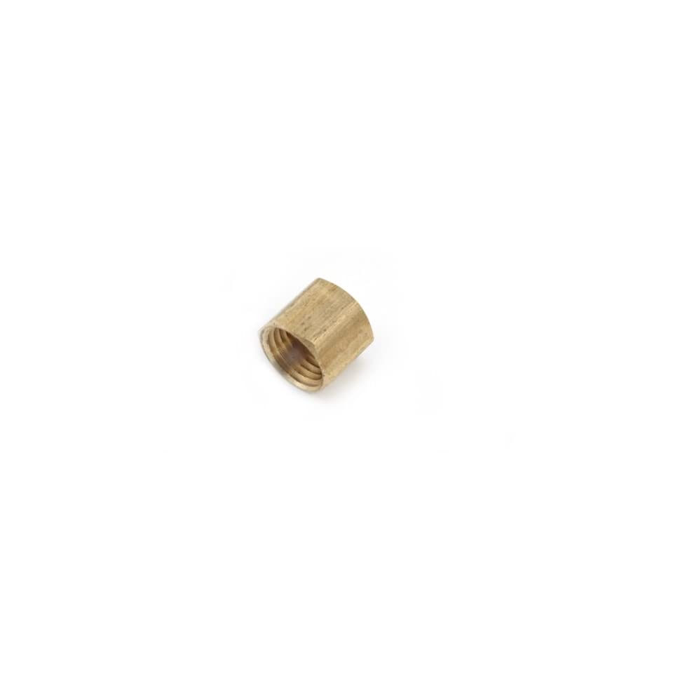 Anderson Metals 06108 Brass Pipe Fitting, Cap, 3/4 Female Pipe