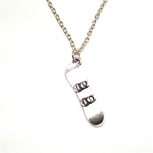1pc Snowboarder Necklace Snowboarder Charm Pendant Snowboarder Jewelry, Snowboard - Pendant Oval Monogrammed