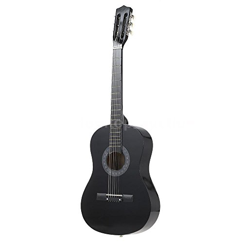 black acoustic starter guitar directlycheap