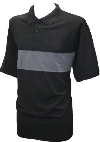 Perfect CollectionHerren Poloshirt Schwarz Schwarz Grau