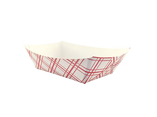 Paper Food Buckets (CucinaPrime Paper Red Check Food Tray, 1/4 lb Capacity, 250 Piece)