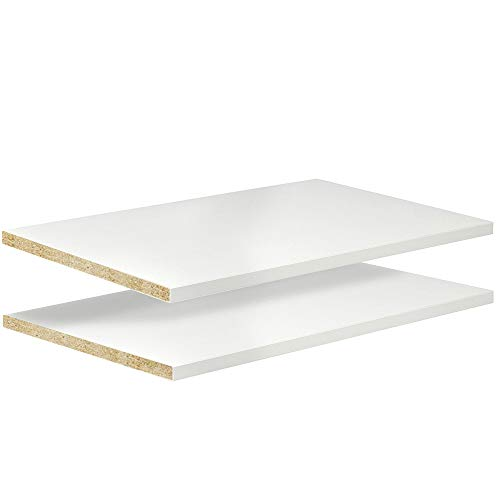 White, Black, Red or Other Colors Laminate Shelf - 2 Pack - 12 x 31 Melamine - Choose Your Accurate Size (1/8, 1/4, 3/8, 1/2)
